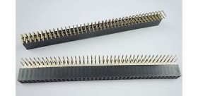 2x40 Pin Female Header Double Row Right Angle (2.54 mm)