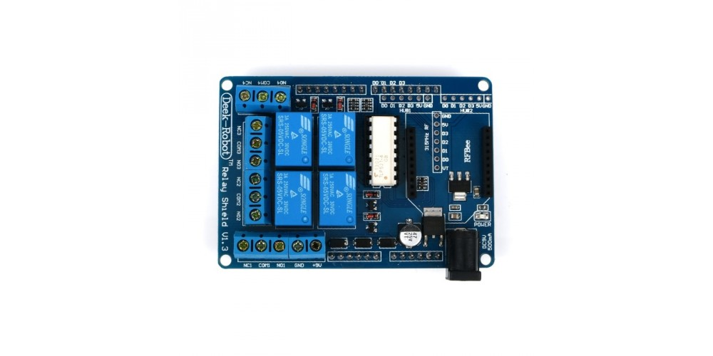 Jual arduino relay shield v channel