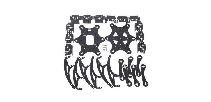 Aluminium Hexapod Spider 18dof Six Legs Robot Frame Kit