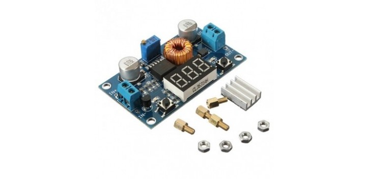 5A 4V-38V XL4015 DC-DC Adjustable Step Down Module with Voltmeter