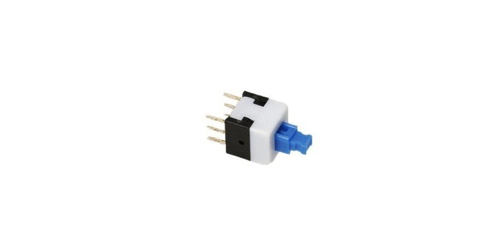 Self-locking Square Push Button Switch 6 Pin 7X7mm