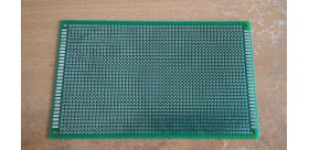 PCB Lubang IC Double Layer 9x15 Cm