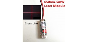 5mW 650nm Cross Line Laser Module