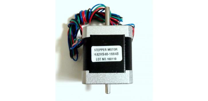 1.8° 48mm NEMA 17 2 Phase Hybird Stepper Motor JK42HS48-1684B Double Shaft