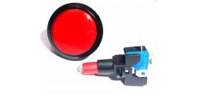 Tombol Acara Kuis Round Illuminated Push Button With LED 46mm-Red