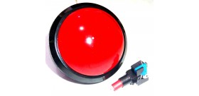 Tombol Acara Kuis Round Convex Illuminated Push Button With LED 100mm-Red