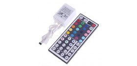 RGB LED Light Control Box with IR 44-Key Remote Control