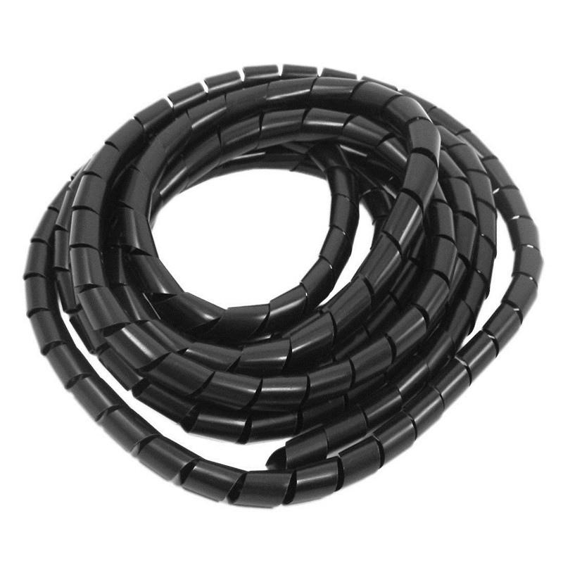 Jual Pelindung Kabel Spiral Black Spiral Wrapping Band