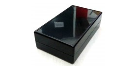 Box Plastik HItam 140x82x38mm