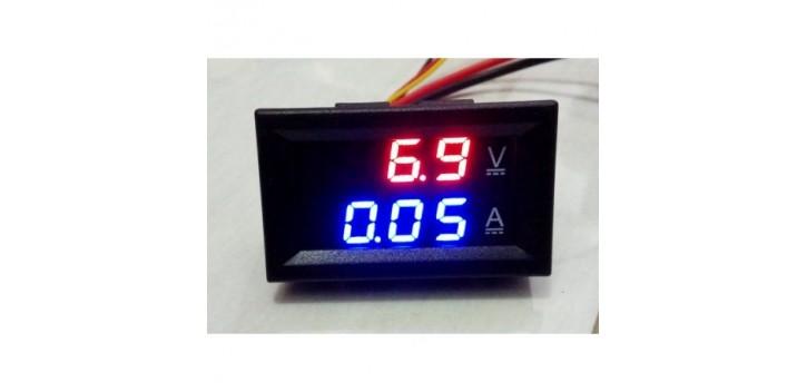 DC0-100V / 10A LED DC dual-display digital Voltmeter Amperemeter