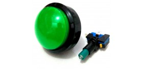Tombol Acara Kuis Round Convex Illuminated Push Button With LED 60mm-Green