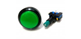 Tombol Acara Kuis Round Illuminated Push Button With LED 46mm-Green