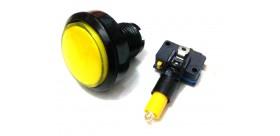 Tombol Acara Kuis Round Illuminated Push Button With LED 46mm-Yellow