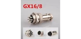 Aviation Plug 4-Pin 16mm GX16-4 Metal Male Female Panel Connector