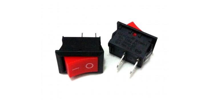 Saklar On-Off AC KCD1-101 Rocker Switch 19x12MM-RED