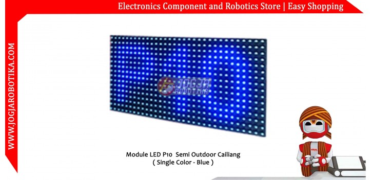 Led Matrik P10 Biru (Semi Outdoor)