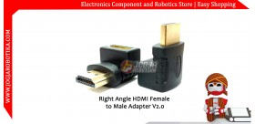 Right Angle HDMI Female to HDMI Male Adapter V2.0
