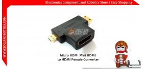 Micro HDMI/Mini HDMI to HDMI Converter