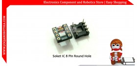 Soket IC 8 pin Round Hole