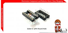 Soket IC 14 pin Round Hole