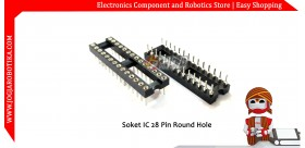 Soket IC 28 pin Round Hole