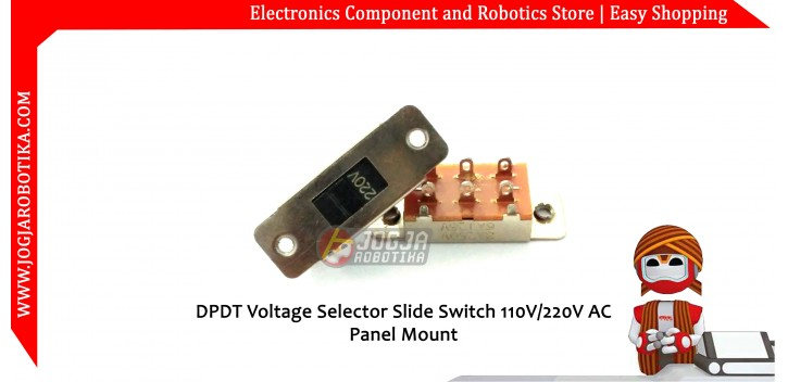 DPDT Voltage Selector Slide Switch 110V/220V AC Panel Mount