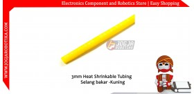 3mm Heat Shrinkable Tubing / Selang bakar - Kuning