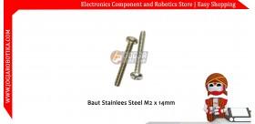 Baut Stainlees Steel M2x14mm