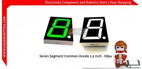 Seven Segment Common Anoda 2.3 Inch - Hijau