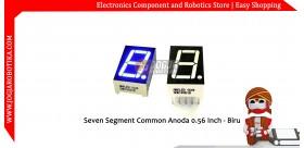 Seven Segment Common Anoda 0.56 Inch - Biru