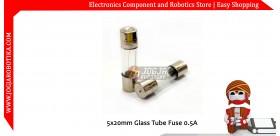5x20mm Glass Tube Fuse 0.5A 250V