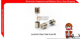 5x20mm Glass Tube Fuse 8A 250V