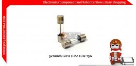 5x20mm Glass Tube Fuse 25A 250V