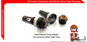 Panel Mount Fuse Holder for 5x20mm Glass Tube Fuse