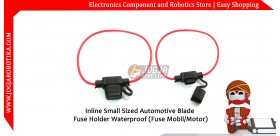 Inline Small Sized Automotive Blade Fuse Holder Waterproof