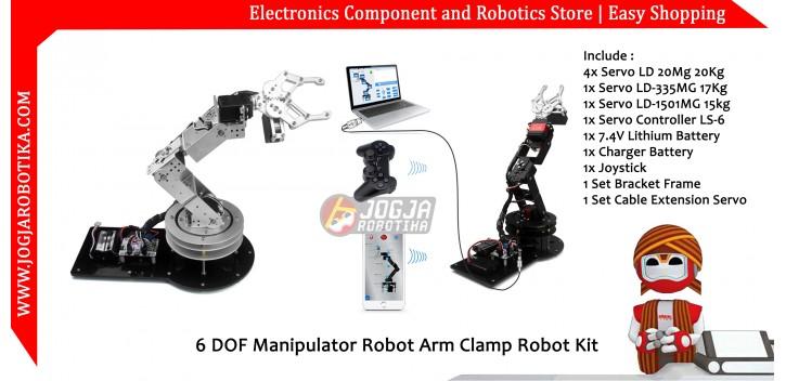 6 DOF Manipulator Robot Arm Clamp Robot Kit