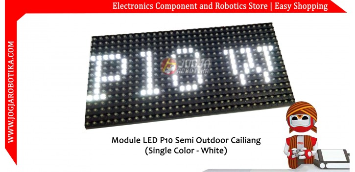 Modul Led P10 Putih (Semi Outdoor)