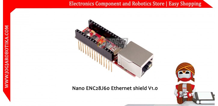 Nano ENC28J60 Ethernet shield V1.0