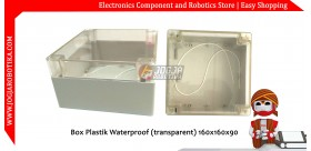 Box Plastik Waterproof (transparent) 160x160x90