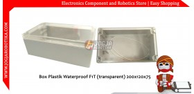Box Plastik Waterproof F1T (transparent) 200x120x75MM