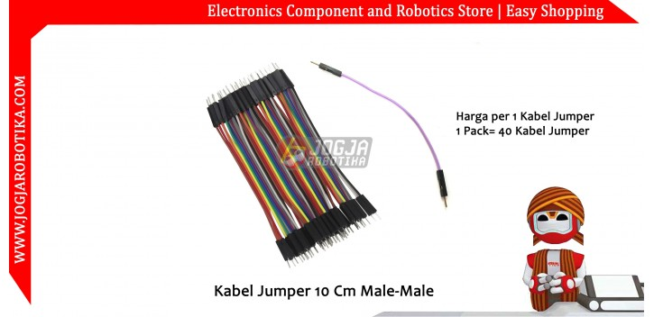 Kabel Jumper 10 Cm Male-Male Ecer 1pcs