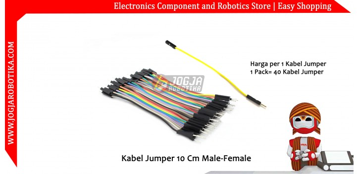 Kabel Jumper 10 Cm Male-Female Ecer 1pcs