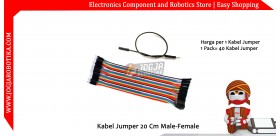 Kabel Jumper 20 Cm Male-Female Ecer 1pcs