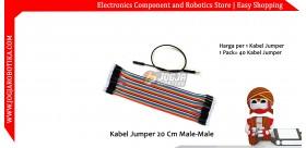 Kabel Jumper 20 Cm Male-Male Ecer 1pcs