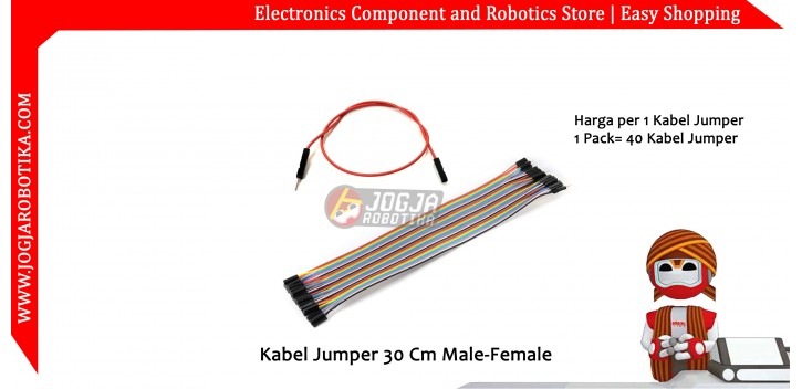 Kabel Jumper 30 Cm Male-Female Ecer 1pcs