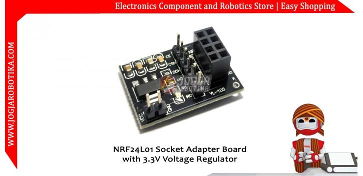 NRF24L01 Socket Adapter Board with 3.3V Regulator