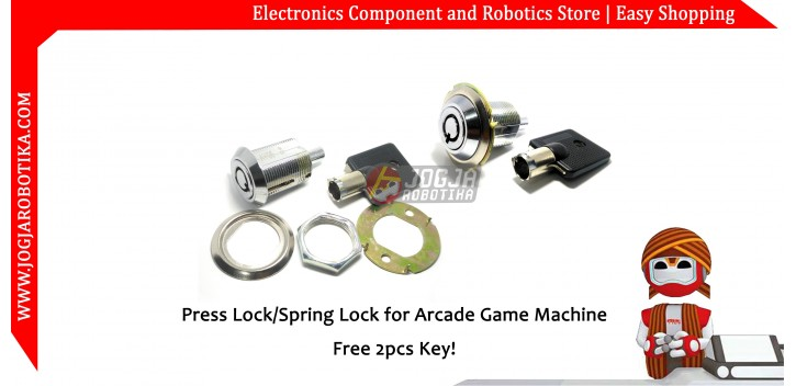 Press Lock-Spring Lock for Arcade Game Machine