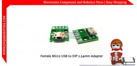 Female Micro USB to DIP 2.54mm Adapter
