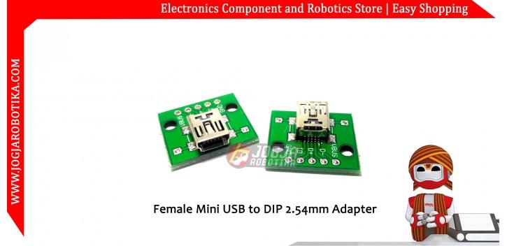 Female Mini USB to DIP 2.54mm Adapter