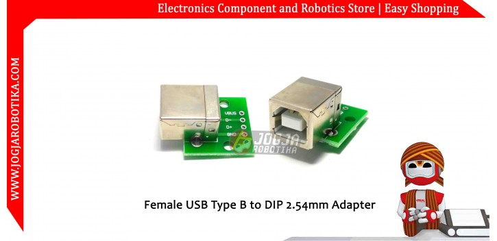 Female USB Type B to DIP 2.54mm Adapter